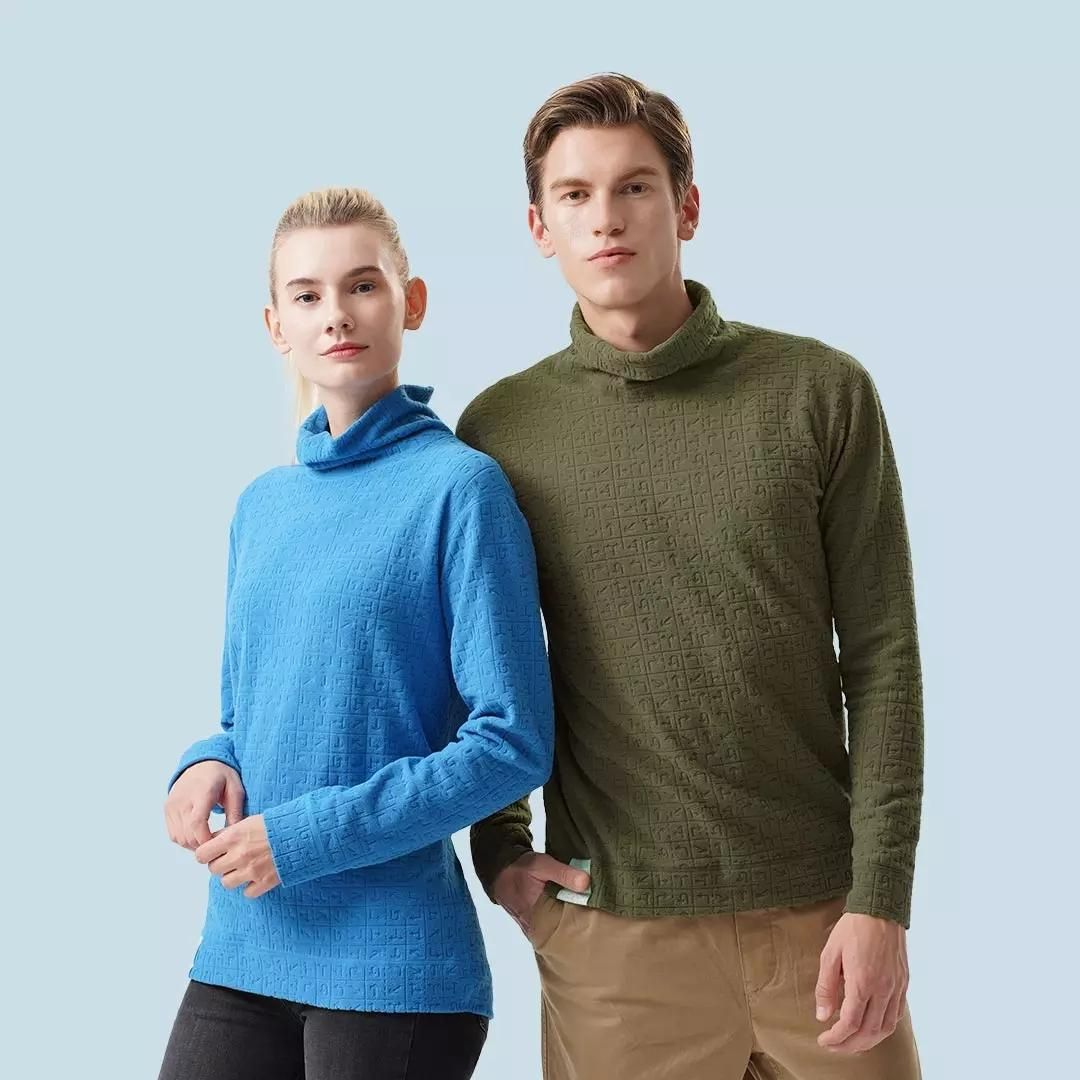 ZENPH Double sided Warm Sports Long sleeved T shirt Cotton Sports Shirts Tracksuit