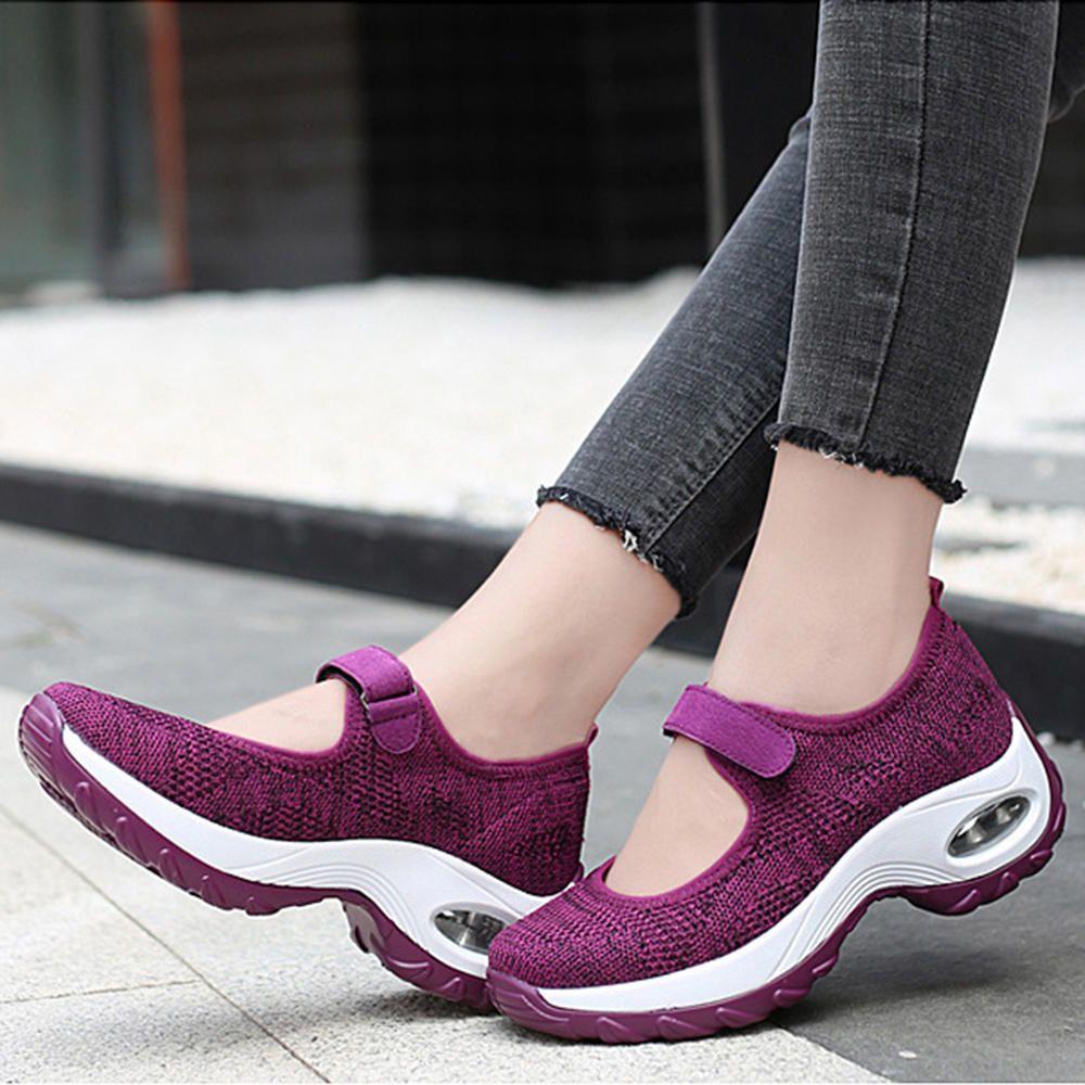 Women Casual Mesh Hollow Out Platform Sneaker