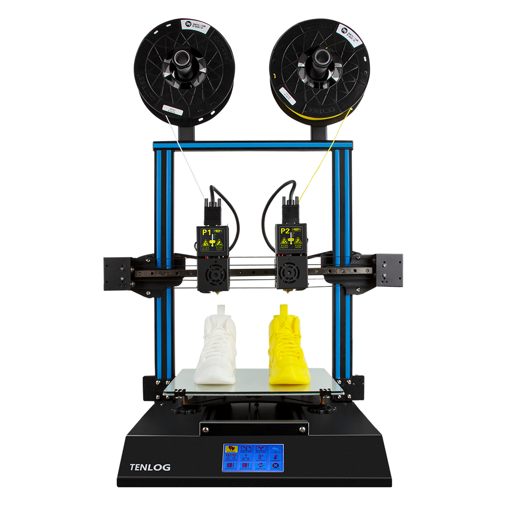 TENLOG® TL D3 Pro Dual Extruder 3D Printer Kit 300*300*350mm Printing Size 4.3inch Large LCD Display Support Dual Nozzle/Print SD Card& USB Connect