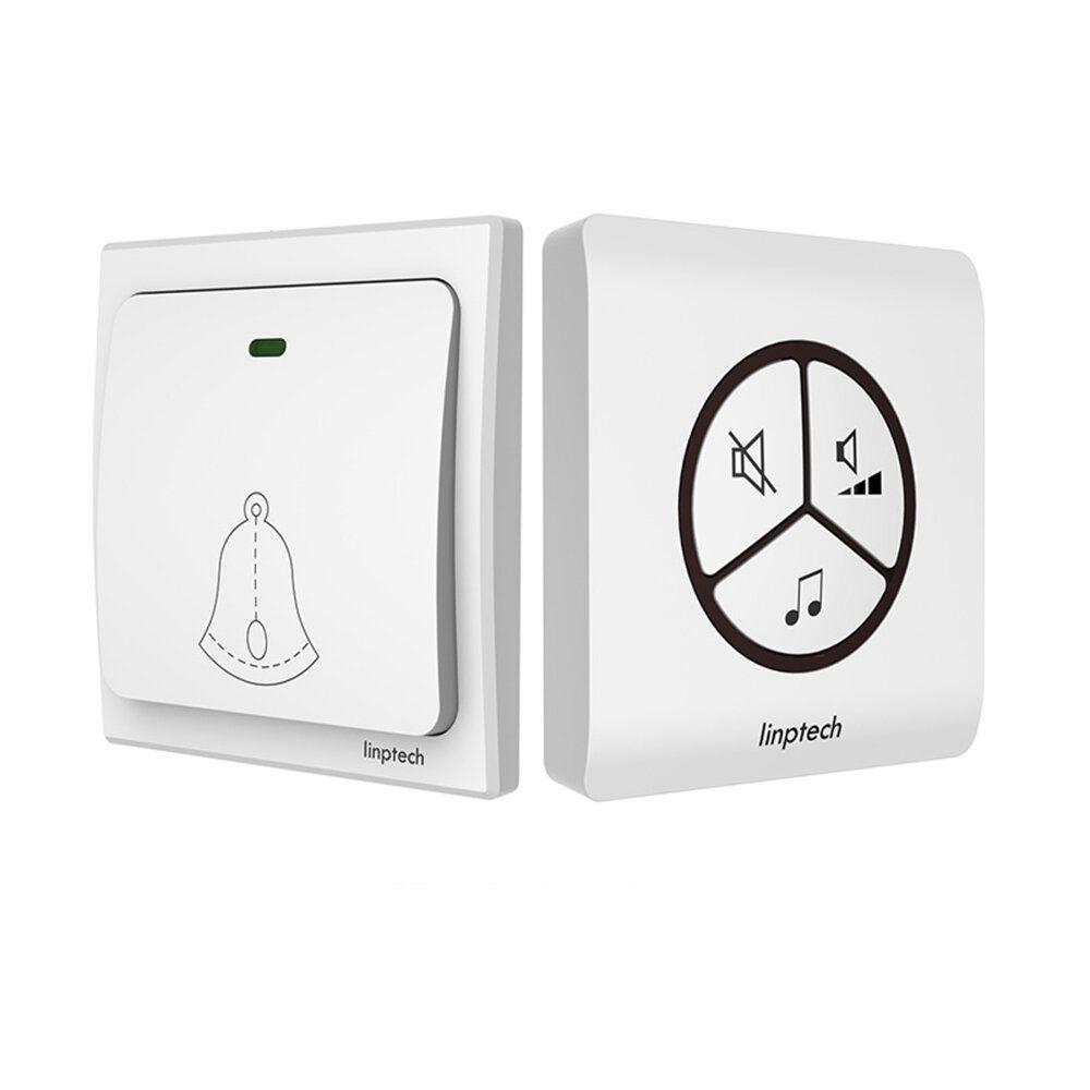 RDR US$20.18~28.18 Linptech G1 Self-power Waterproof wireless Doorbell No Battery Home 25 Chime 1 Button 1/2 Receiver