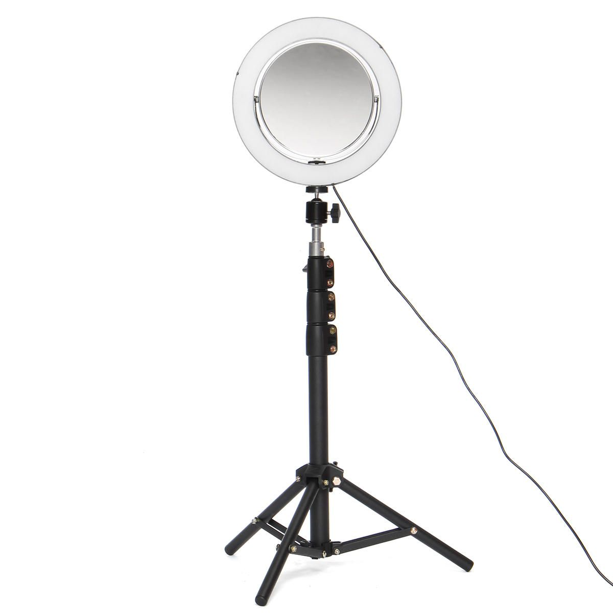 8.66 Live Stream Makeup Mirror Selfie LED Ring Light Fill in Light With Remote Control Cell Phone Holder