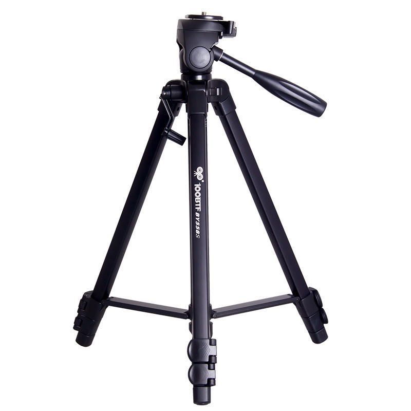 100BTF BY 558S Foldable 46cm 130cm Tripod with Removable Ball Head Max Load 10KG