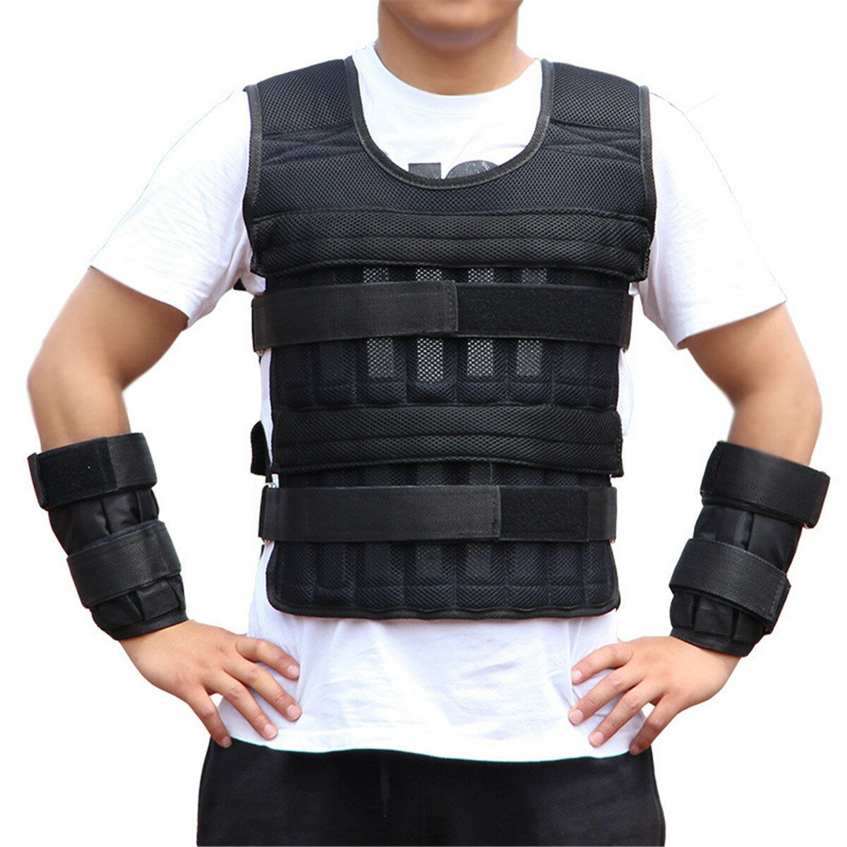 Adjustable Tactical Weight Plate Carrier Protective Clothing For Training Sport Sports Protective Gear