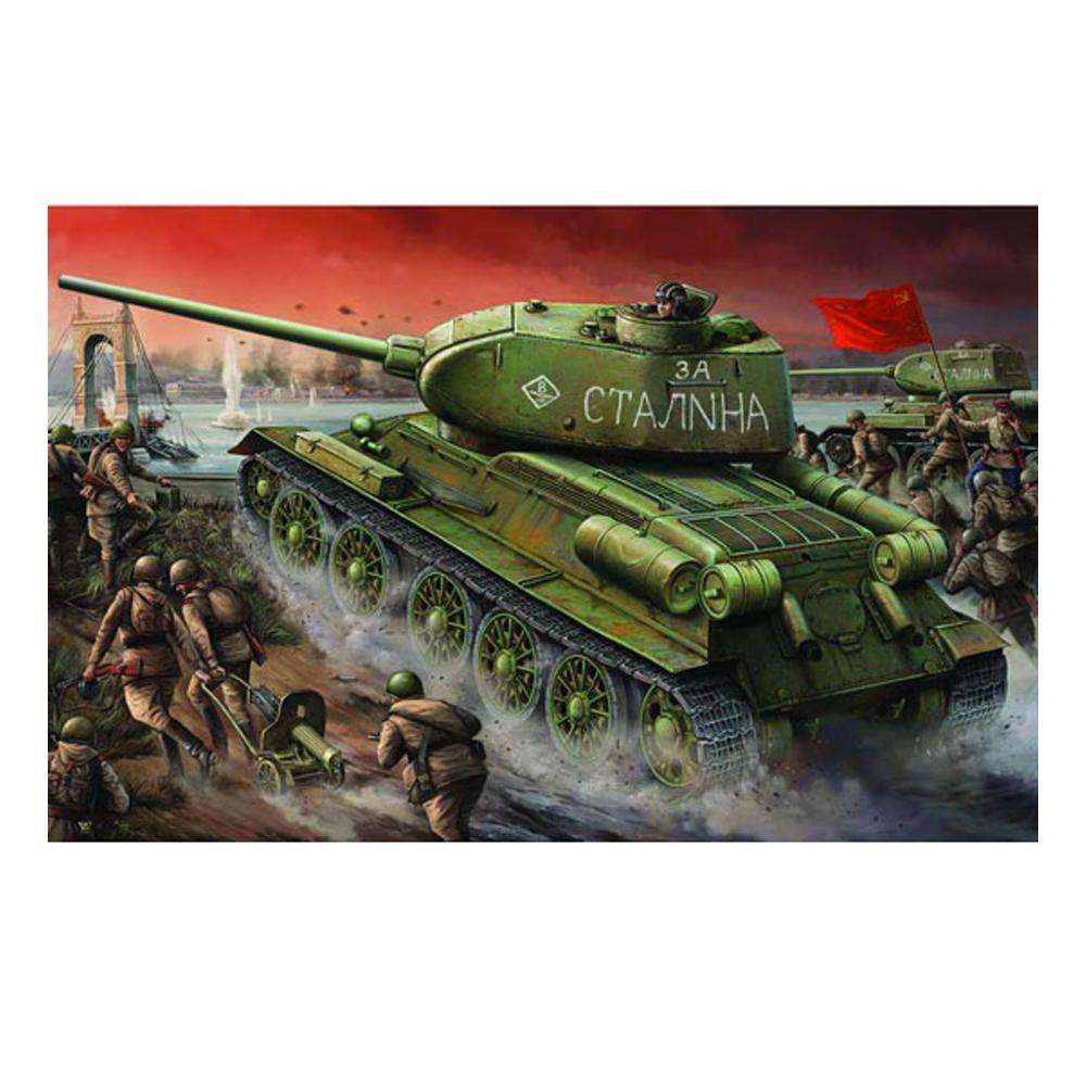 Trumpeter 1:16 Soviet T 34/85 DIY Assembled Tank Static Model Building Set