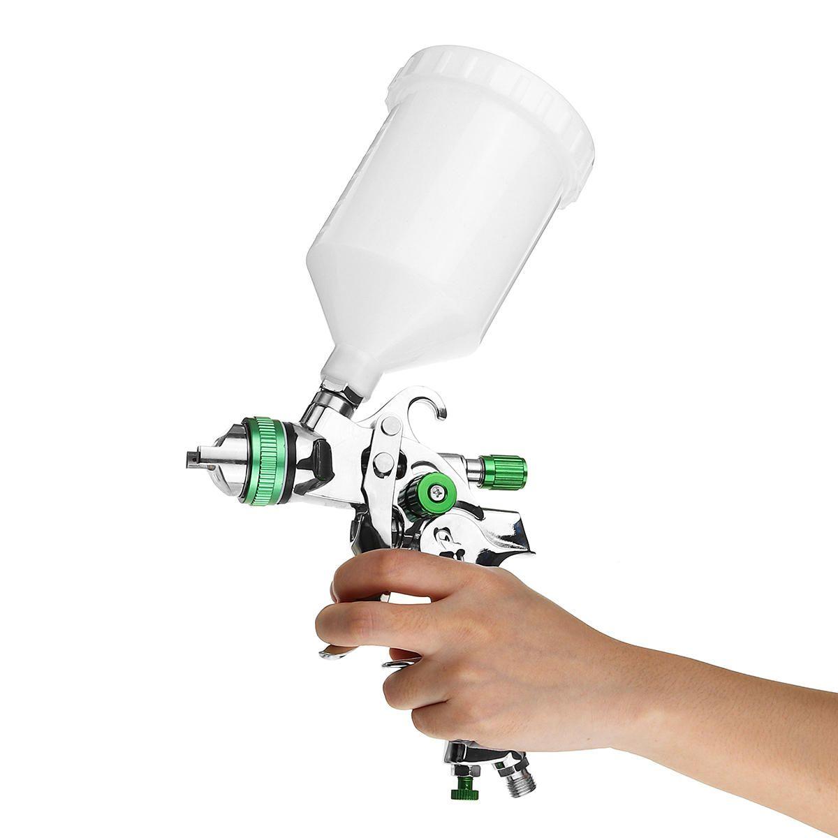 G2008 HVLP 1.4mm 600ml Paint Airbrush Sprayer Paint High Efficiency Gravity Feed Car Primer