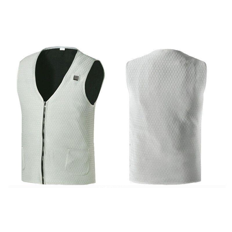 Electric Winter Heated Men Women Warm Vest Heating USB Coat Jacket Clothing