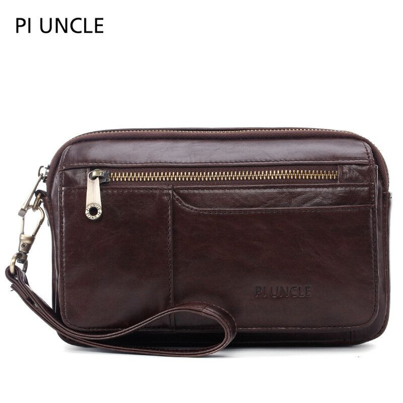 Men Genuine Leather Large Capacity Clutches Bags