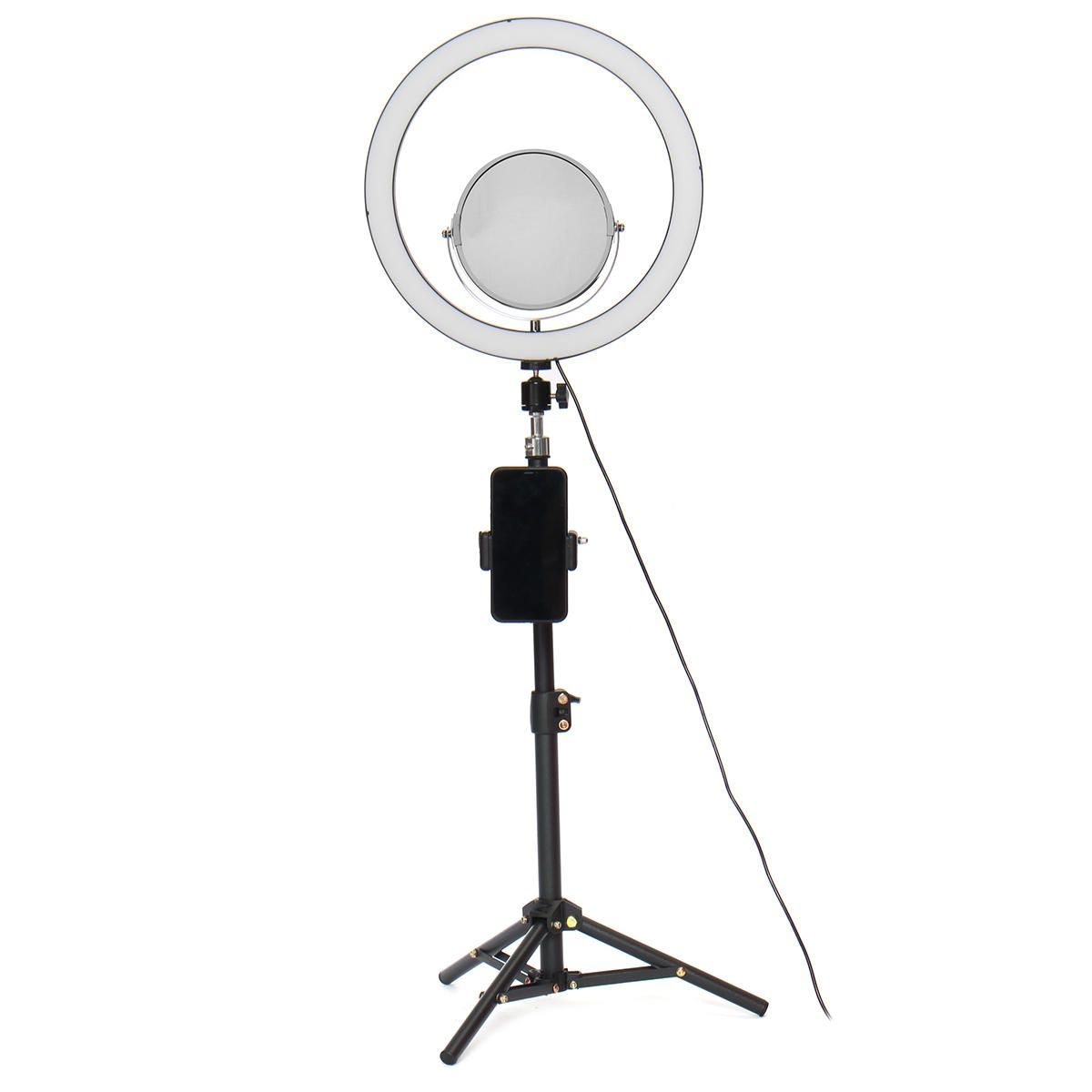 Live Stream Makeup Selfie LED Ring Light Fill Light With Mirror Phone Holder bluetooth Remote Control