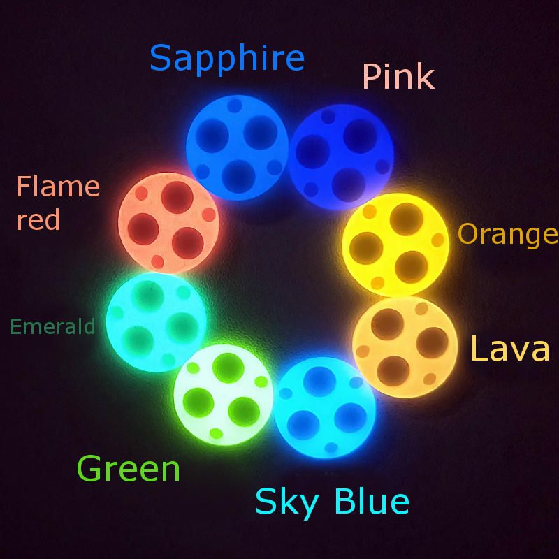 Lumintop 2x19.7mm Self Illuminate Turboglow Glow Gasket For FW3A & Carclo 105XX Most Triple Optic Light Flashlight