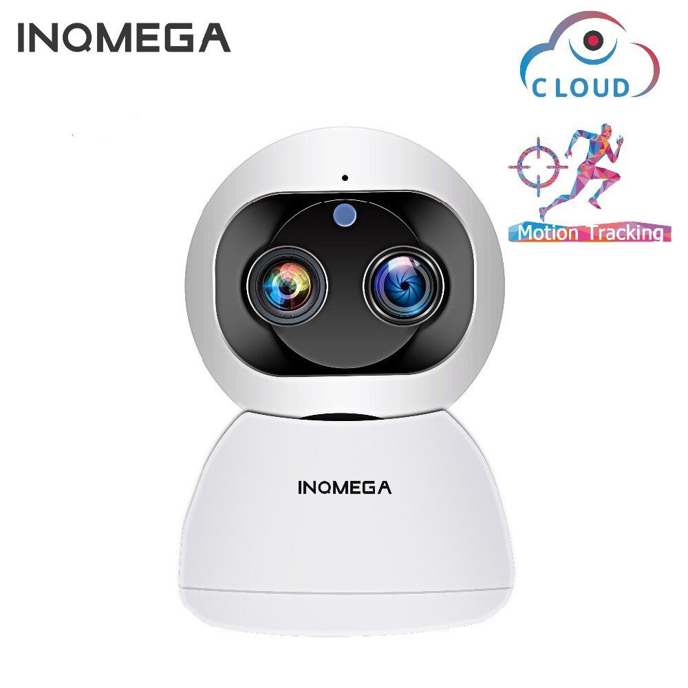 [Dual Lens] INQMEGA Cloud 1080P 2MP Dual Lens PT 360° Wireless IP Camera Wifi Auto Tracking Indoor Home Security Surveillance CCTV Network Baby Monitors