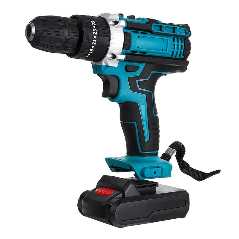 48V Cordless Impact Electric Screwdriver Drill 25+3 Gear Forward/Reverse Switch Power Screw Driver W/ 1 Or 2 Li ion Battery