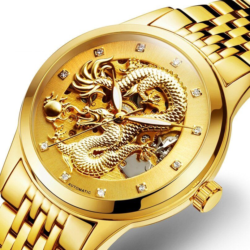 DEFFRUN Business Style Automatic Mechanical Watch Full Steel Band Men Wrist Watch