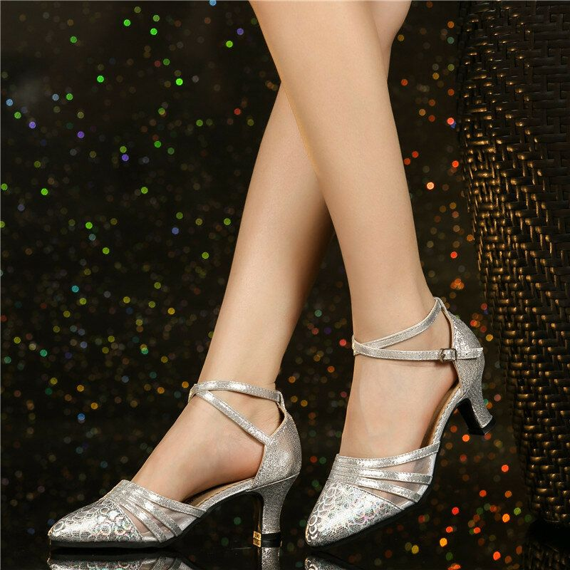 Women 5.5cm Heels Soft Comfortable Training Dance Shoes