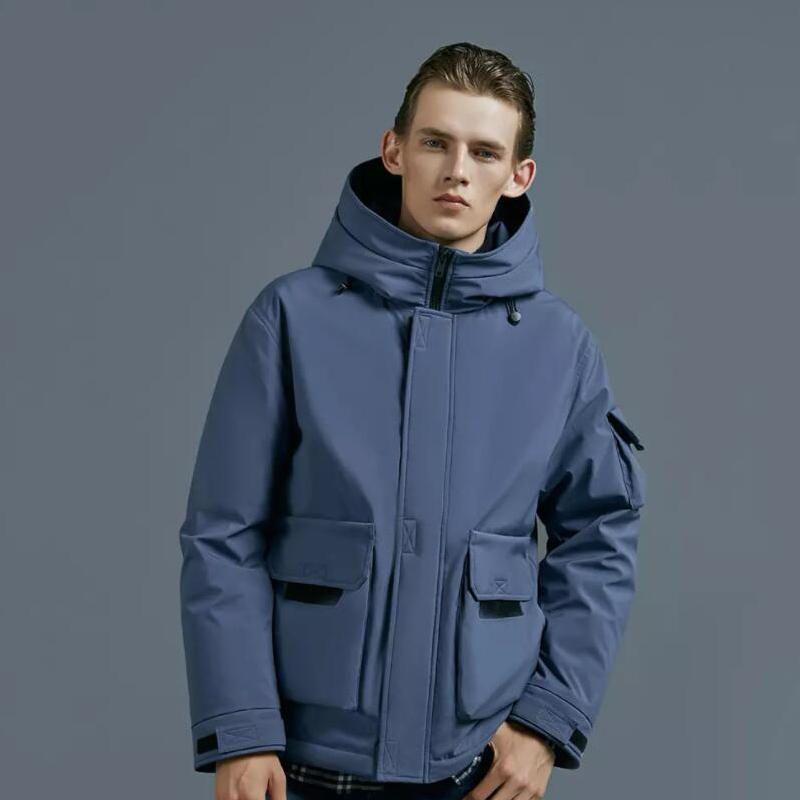 90FUN Men Hooded Down Jacket Winter Warm Waterproof Breathable Coat From Xiaomi Youpin