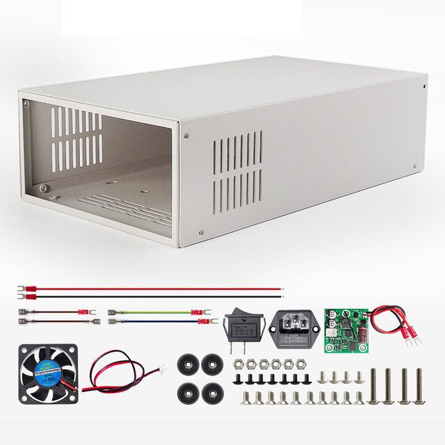 Digital Power Supply Case S06A For RD6006 RD6006W Voltage Converter Metal Housing Shell Not Contain Power Supply