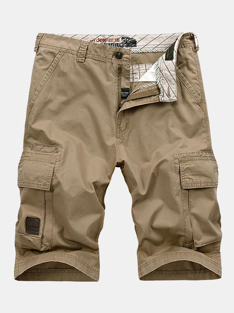 Summer Mens 30 44 Size Multi Pocket Cargo Shorts Fifth Breathable Loose Casual Shorts