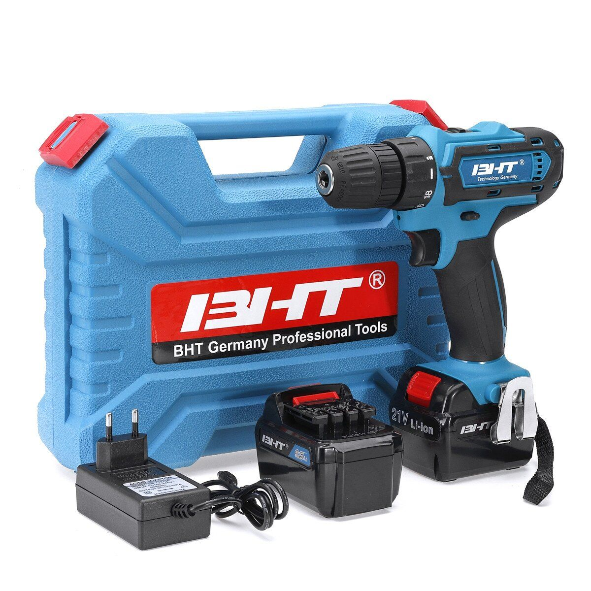 21V 2 Speed Brushless Li ion Electric Drill Cordless Impact Drill Tools 35Nm 2 Speeed Power Drills