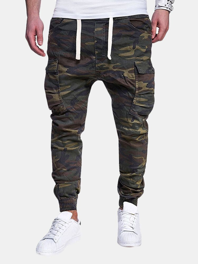 Camo Printed Multi pocket Cargo Pants