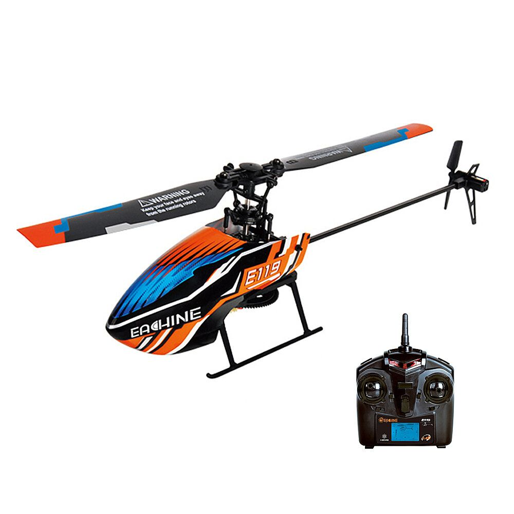 Eachine E119 2.4G 4CH 6 Axis Gyro Flybarless RC Helicopter RTF