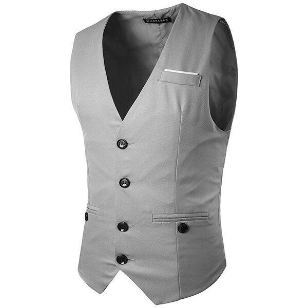 Gentleman Single Breasted Slim Suit Waistcoat Vest for Men