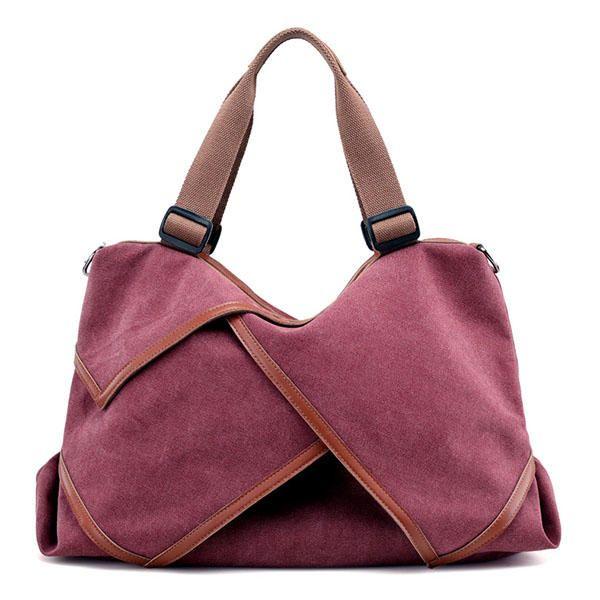 Women Canvas Large Capacity Casual Travel Tote Bag Handbag Crossbody Bag