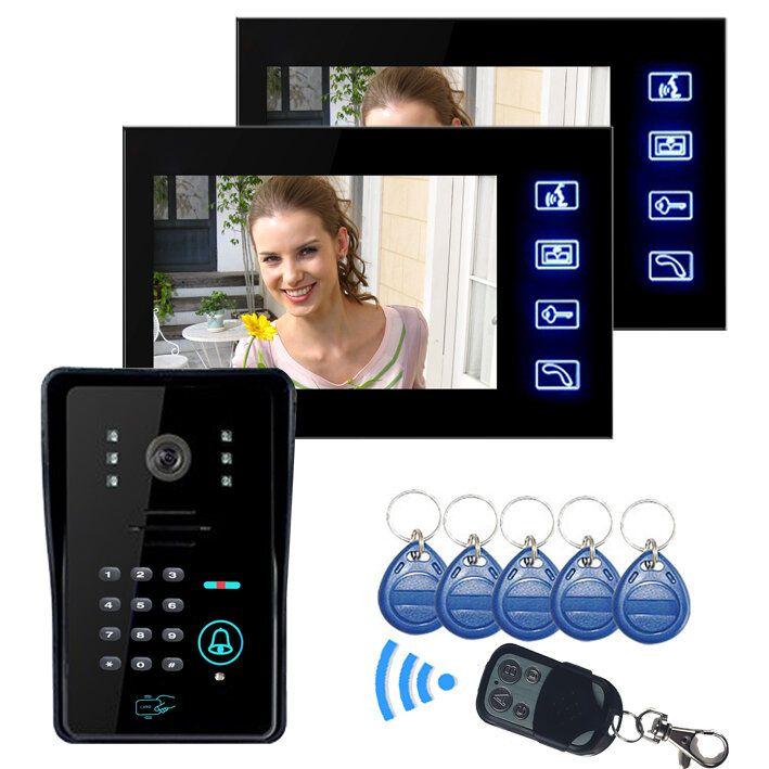 ENNIO SY806MJIDS12 LCD Video Door Phone With IR Camera & Code Keypad