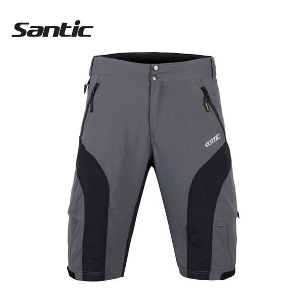 Santic Men's Removable Multifunctional Casual Cycling Shorts Bike Pants With 3D Cushion