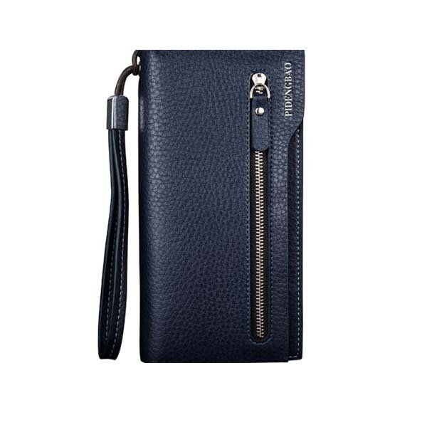PIDENGBAO Brand PU Leather Long Wallet Purse Handbag Card Holder with Zipper