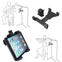 Adjustable Music Microphone Stand Mount Holder Clamp For Tablet