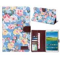 Cotton Print Design Folio PU Leather Case For Samsung Galaxy T700
