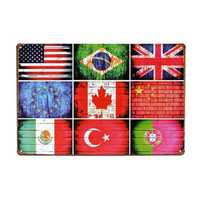 National Flag Tin Sign Vintage Metal Plaque Poster Bar Pub Home Wall Decor
