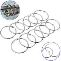 12Pcs Stainless Steel Circle Shower Curtain Hook Bath Curtain Glide Hanger