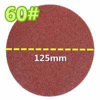 60 Grit 125mm Flocking Sandpaper Sand Paper Sheet Disc Wheel Wood Working Polishing Tool