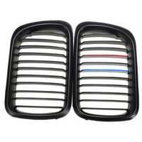 Matte Black+M Color Front Grilles For BMW 97-99 323i 323is M3 328i