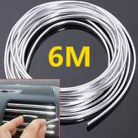 6M Chrome Moulding Trim Strip Car Door Edge Scratch Protector Cover