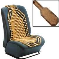 Beaded Wooden Front Massage Seat Chair Cover Cushion Car Office Home