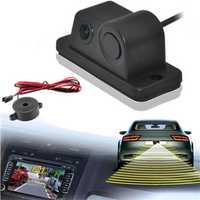 Parking Sensor Buzzer 170 Degree Night Vision Car Rear View Reversing Backup Camera
