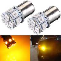 2 x P21W 382 1156 BA15s 5050 LED 13-SMD Tail Indicator Car Bulbs