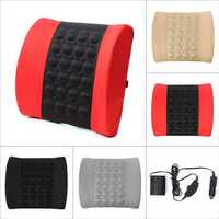 Car Back Lumbar Posture Support Electrical Massage Cushion Pillow 12V
