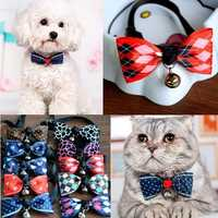 Bow Tie Pet Pomeranian Dog Cat Bells Teddy Dress Accessories Necktie