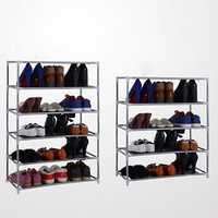 Multi Tiers Shoes Shelf Storage DIY Metal Organizer Rack Holder Household Stands