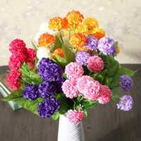 Artificial Daisy Chrysanthemum Silk Flowers Floral Bouquet 8 Heads 7 Colors Home Garden