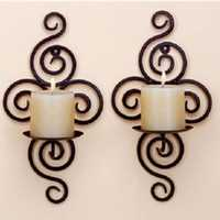 Candle Holder Wall Hanging Sconce Furnishing Articles Handmade Iron