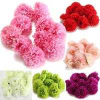 10Pcs Artificial Daisy Mum Flower Silk Spherical Heads Bulk Home Party Wedding Decor