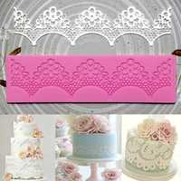 Plum flower Fondant Mold Cake Lace Decoration Silicone Sugarcraft