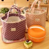 Lovely Waterproof Cooler Insulated Lunch Picnic Bag Handbag Multifunction Kitchen Bag