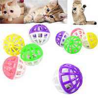 Pet Cat Toy Plastic Playing Ball Tinkle Bell Chasing Ball
