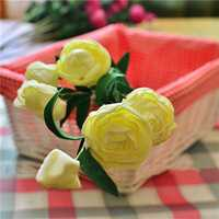 7 Heads Artificial Camellia Handmade Flowers Simulation Camellia Home Decoration