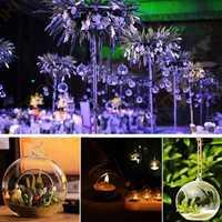 Hanging Glass Candle Holder Crystal Candle Stick Candelabrum Micro Landscape Bottle