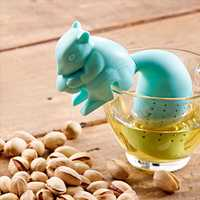 Silicon Squirrel Tea Loose Leaf Strainer Filter Infuser